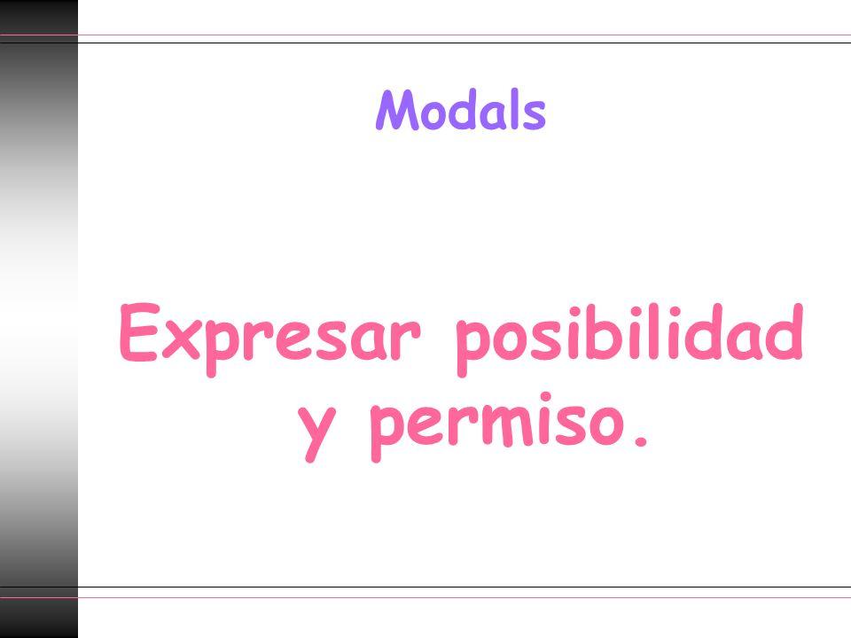 Expresar posibilidad y permiso.