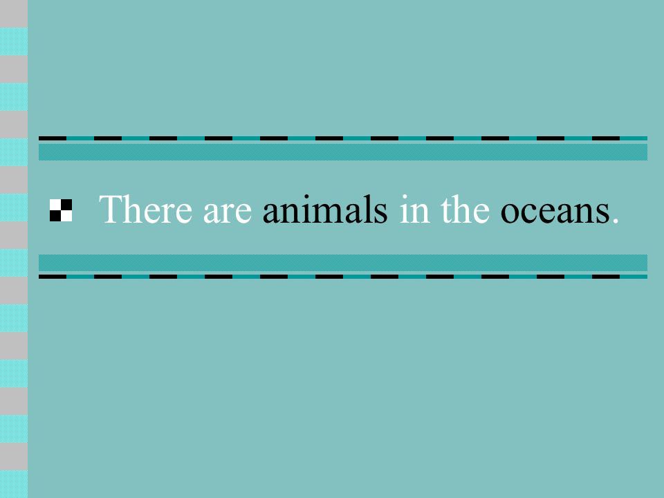 There are animals in the oceans.