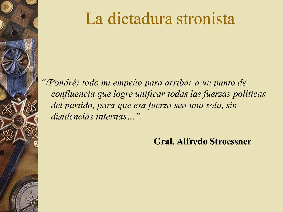 La dictadura stronista