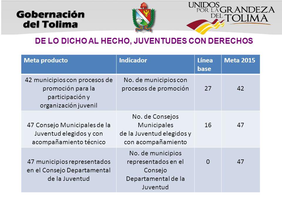 DE LO DICHO AL HECHO, JUVENTUDES CON DERECHOS