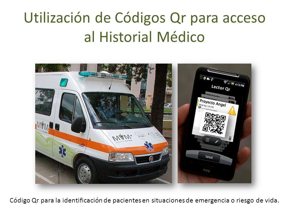 Utilización de Códigos Qr para acceso al Historial Médico