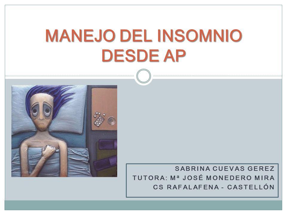 MANEJO DEL INSOMNIO DESDE AP