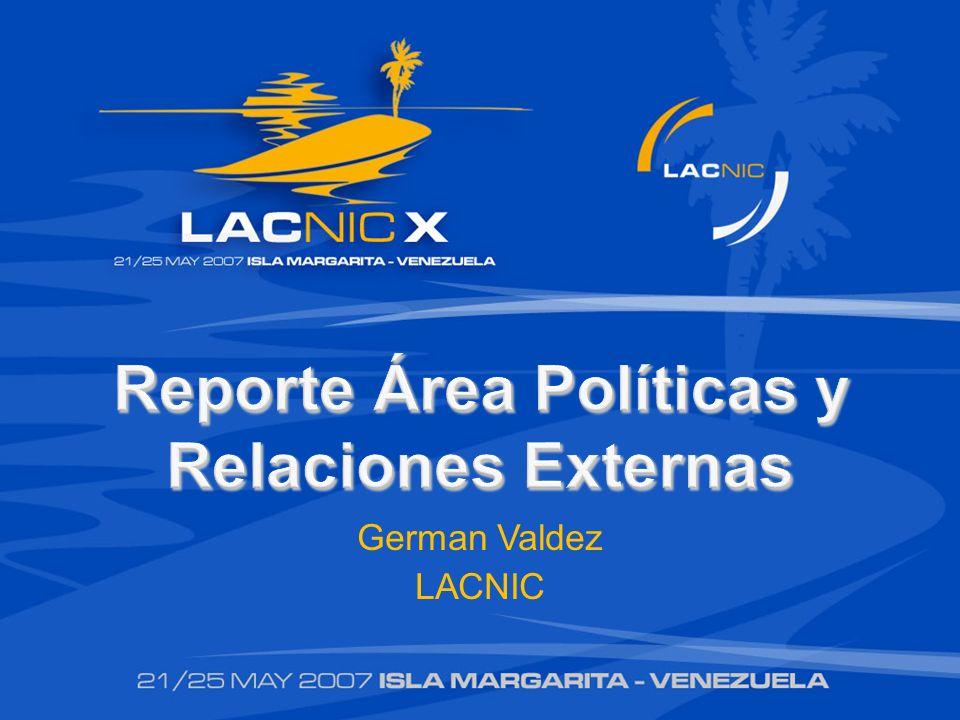 Reporte Área Políticas y Relaciones Externas