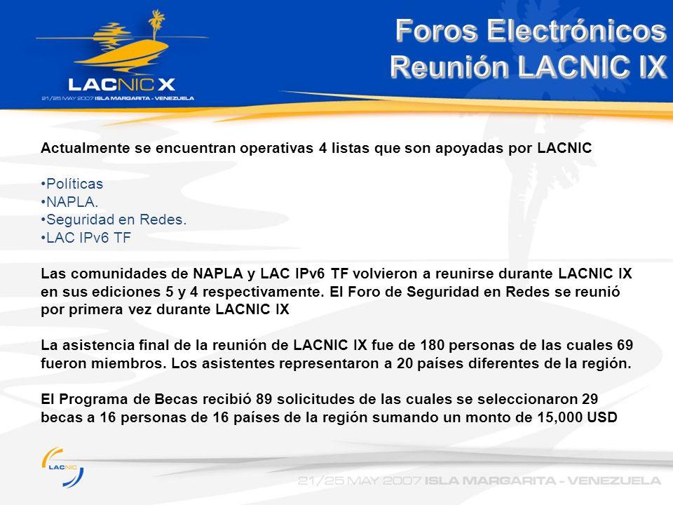Foros Electrónicos Reunión LACNIC IX