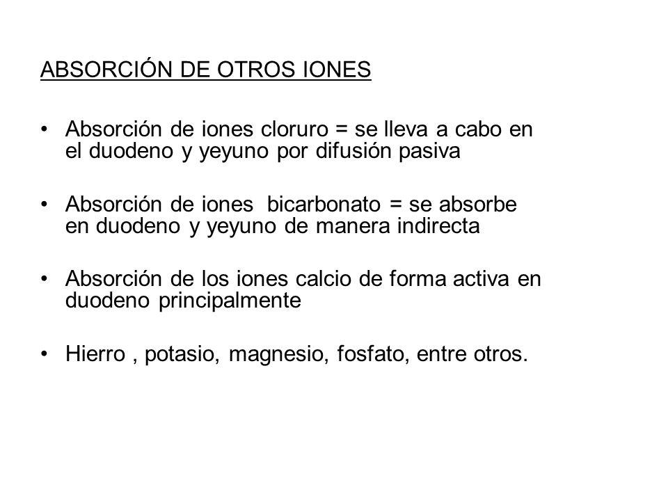 ABSORCIÓN DE OTROS IONES