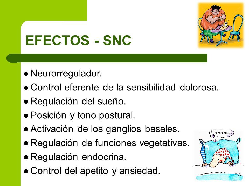 EFECTOS - SNC Neurorregulador.