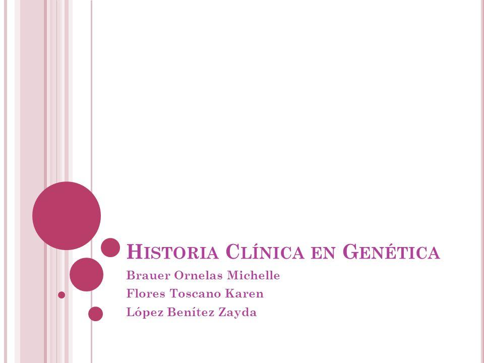 Historia Clínica en Genética
