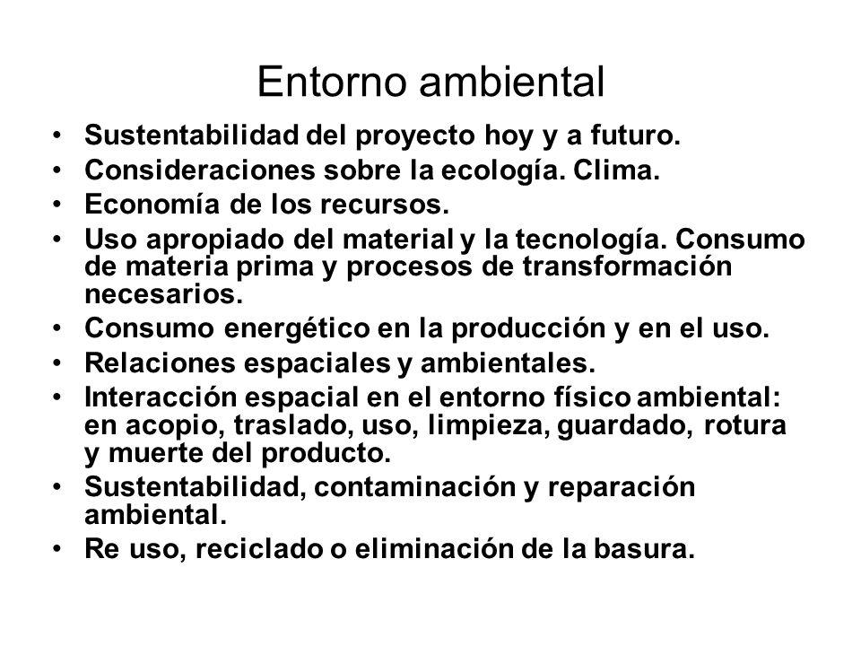 Entorno ambiental Sustentabilidad del proyecto hoy y a futuro.