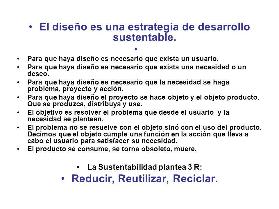 El diseño es una estrategia de desarrollo sustentable.