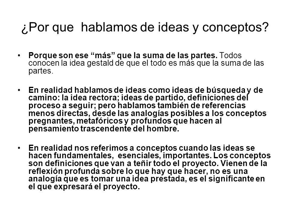 ¿Por que hablamos de ideas y conceptos