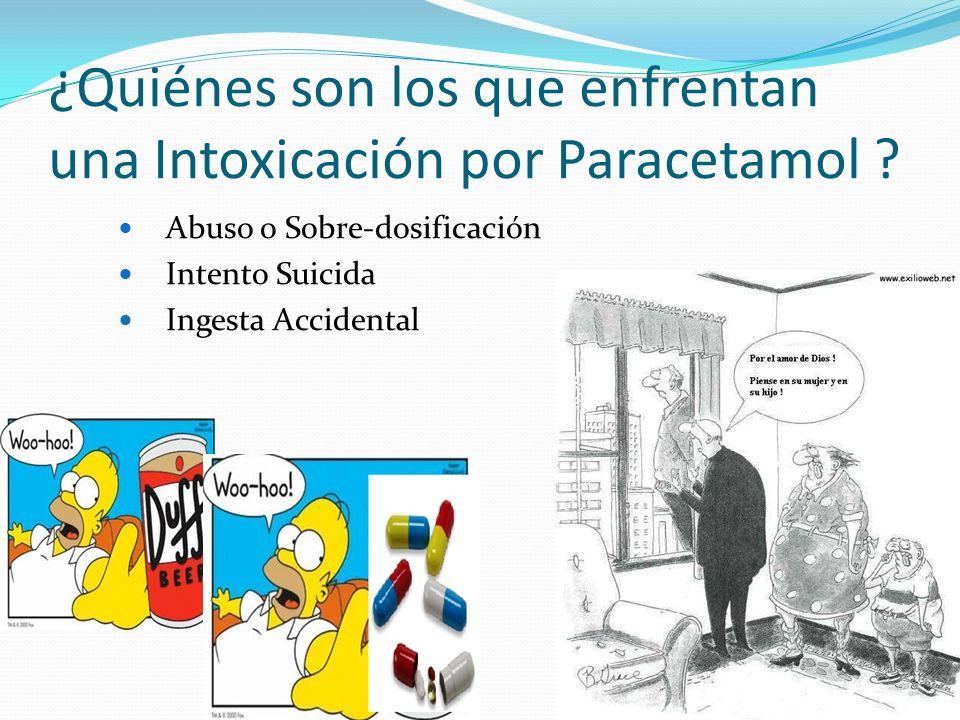 ¿Quiénes son los que enfrentan una Intoxicación por Paracetamol