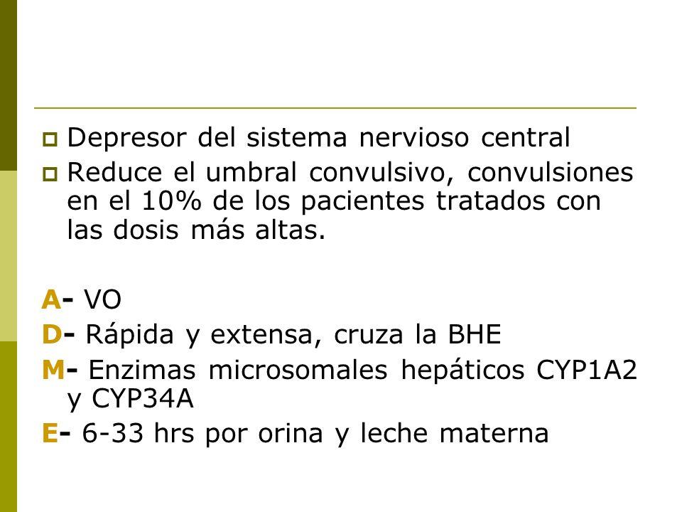 Depresor del sistema nervioso central