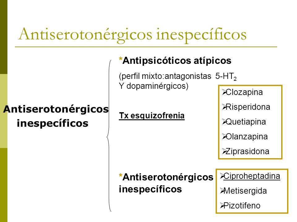 Antiserotonérgicos inespecíficos