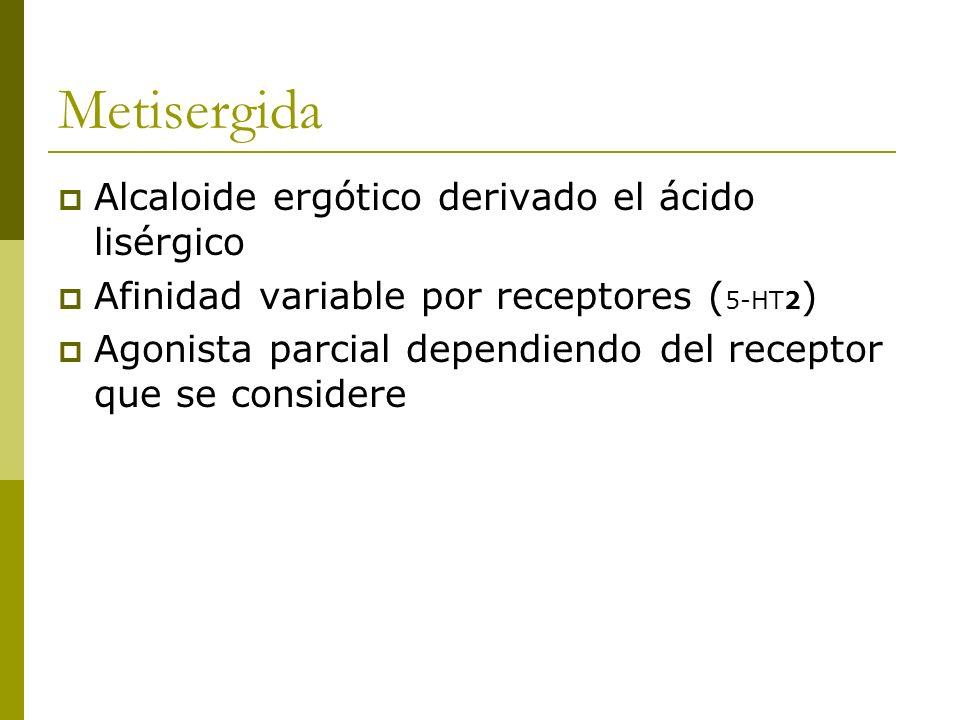 Metisergida Alcaloide ergótico derivado el ácido lisérgico