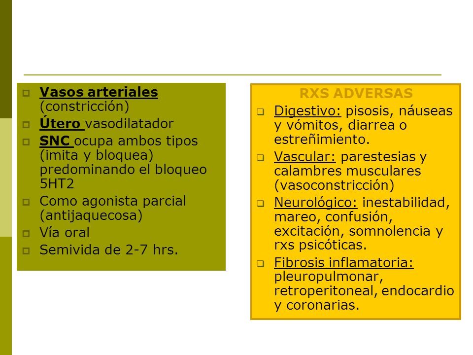 Vasos arteriales (constricción)