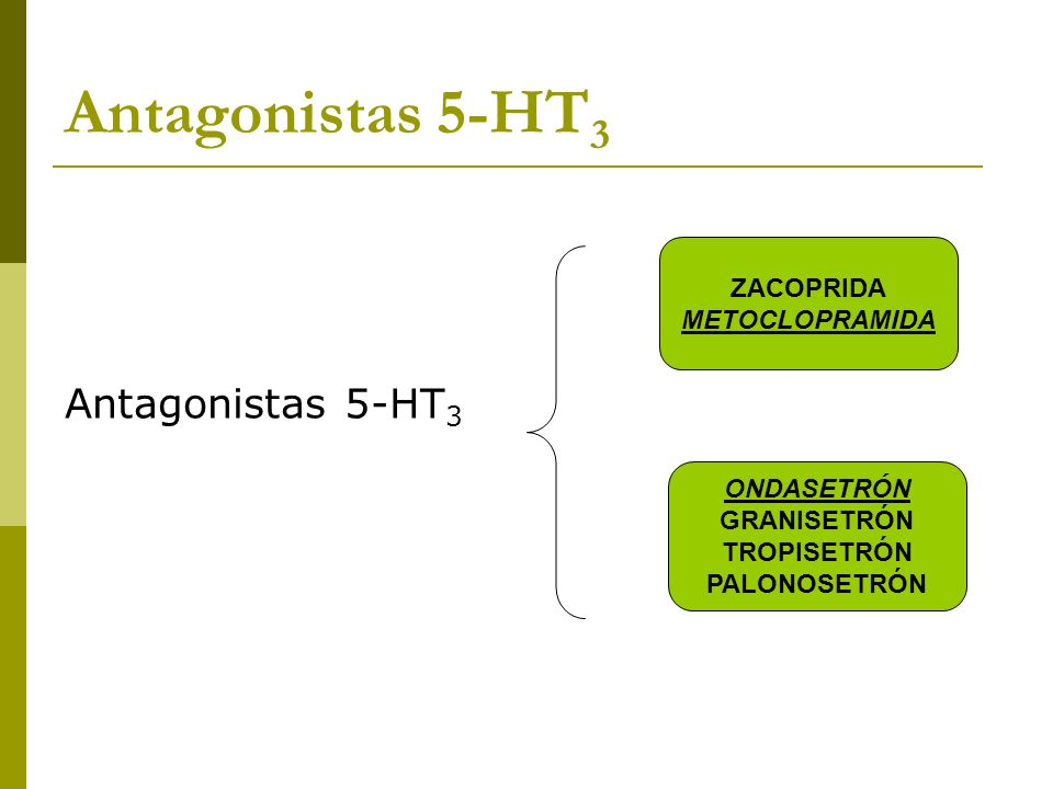 Antagonistas 5-HT3 Antagonistas 5-HT3 ZACOPRIDA METOCLOPRAMIDA
