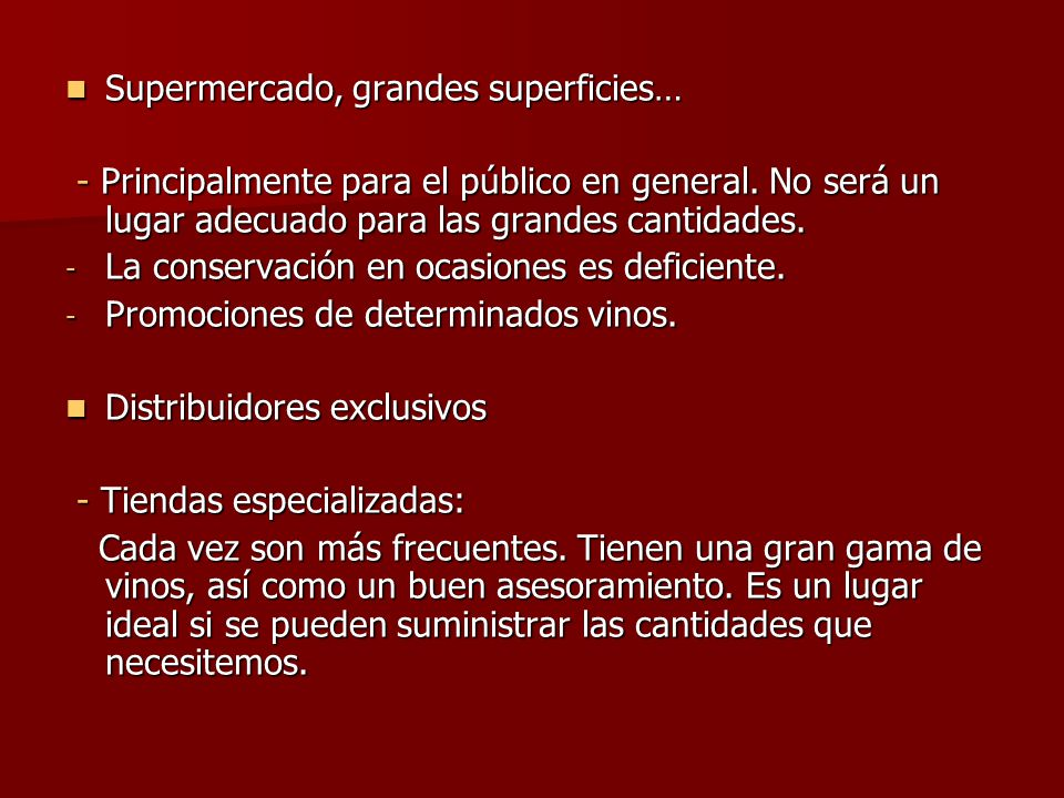 Supermercado, grandes superficies…