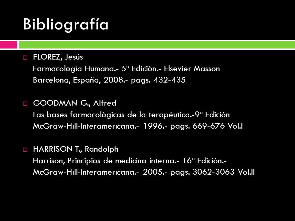 Bibliografía FLOREZ, Jesús