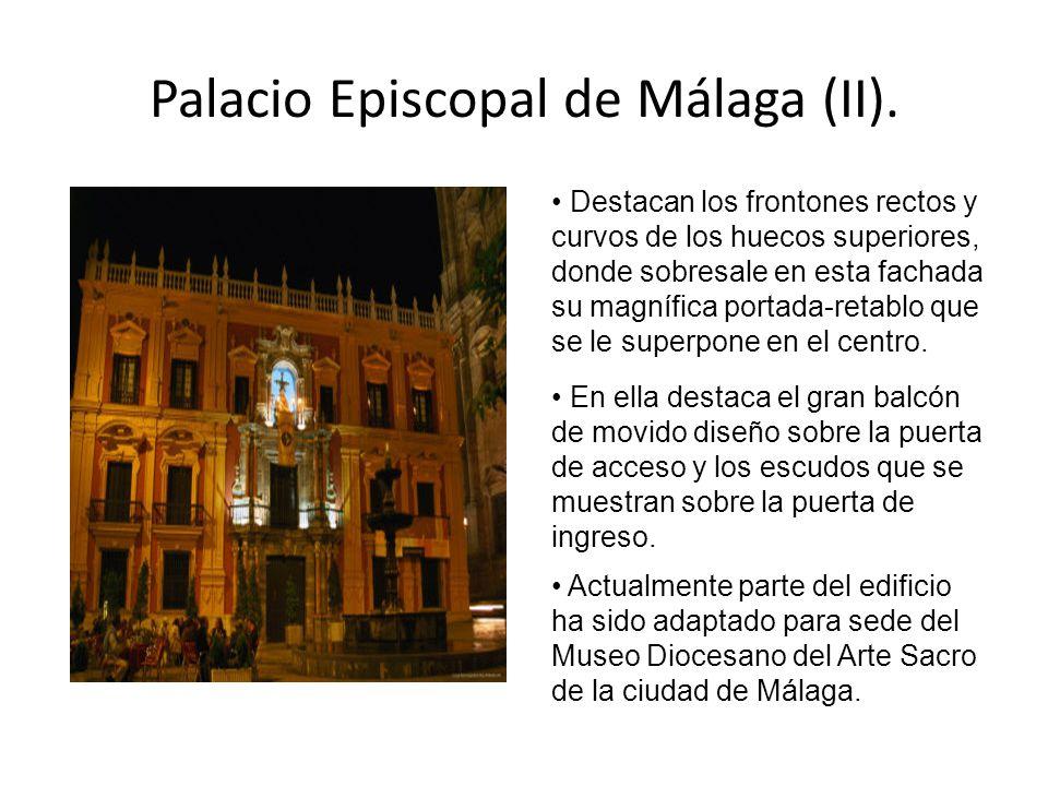 Palacio Episcopal de Málaga (II).