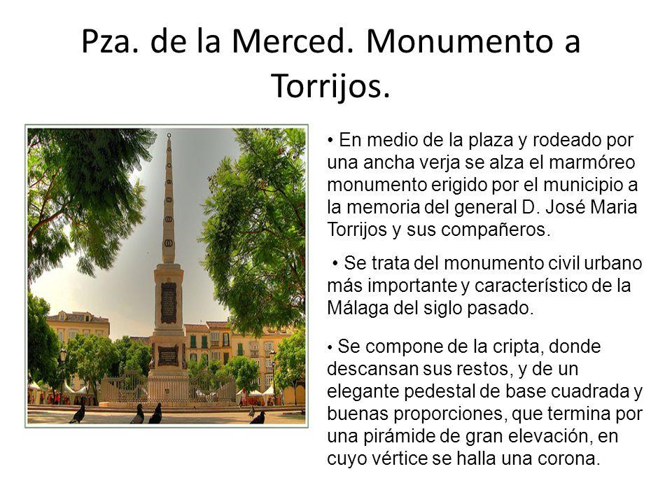 Pza. de la Merced. Monumento a Torrijos.
