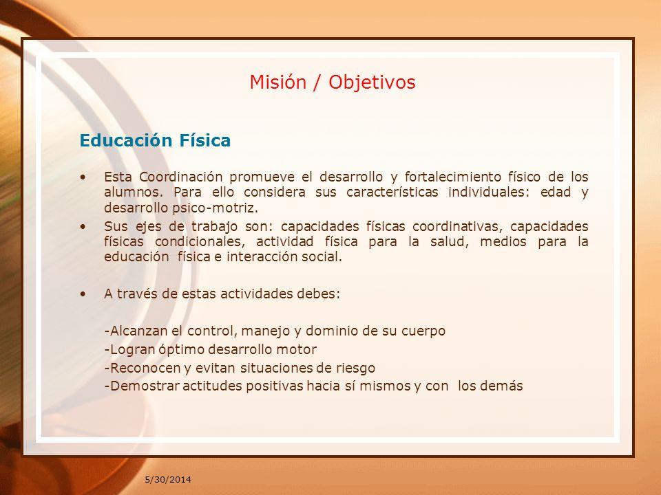 Misión / Objetivos Educación Física