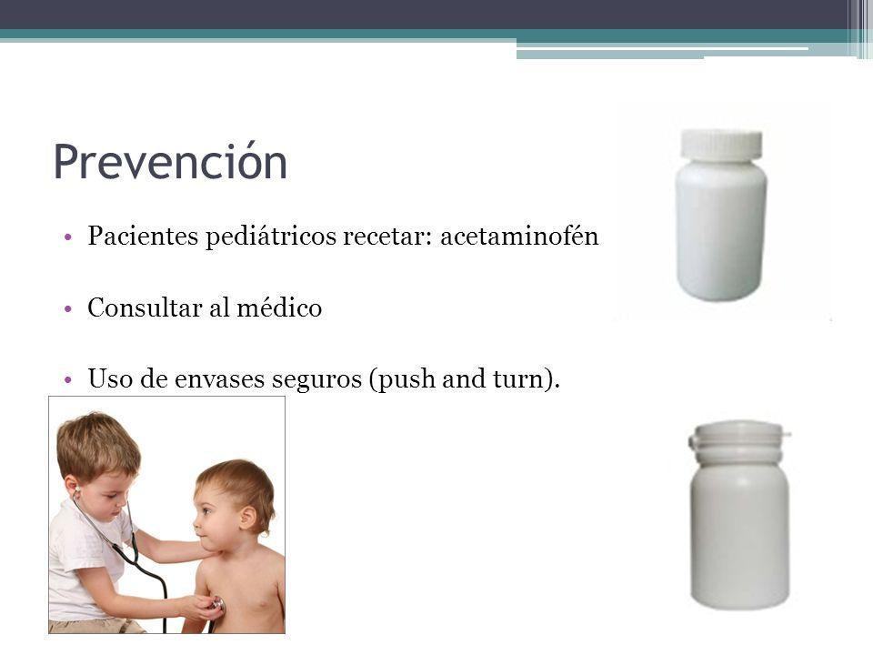 Prevención Pacientes pediátricos recetar: acetaminofén