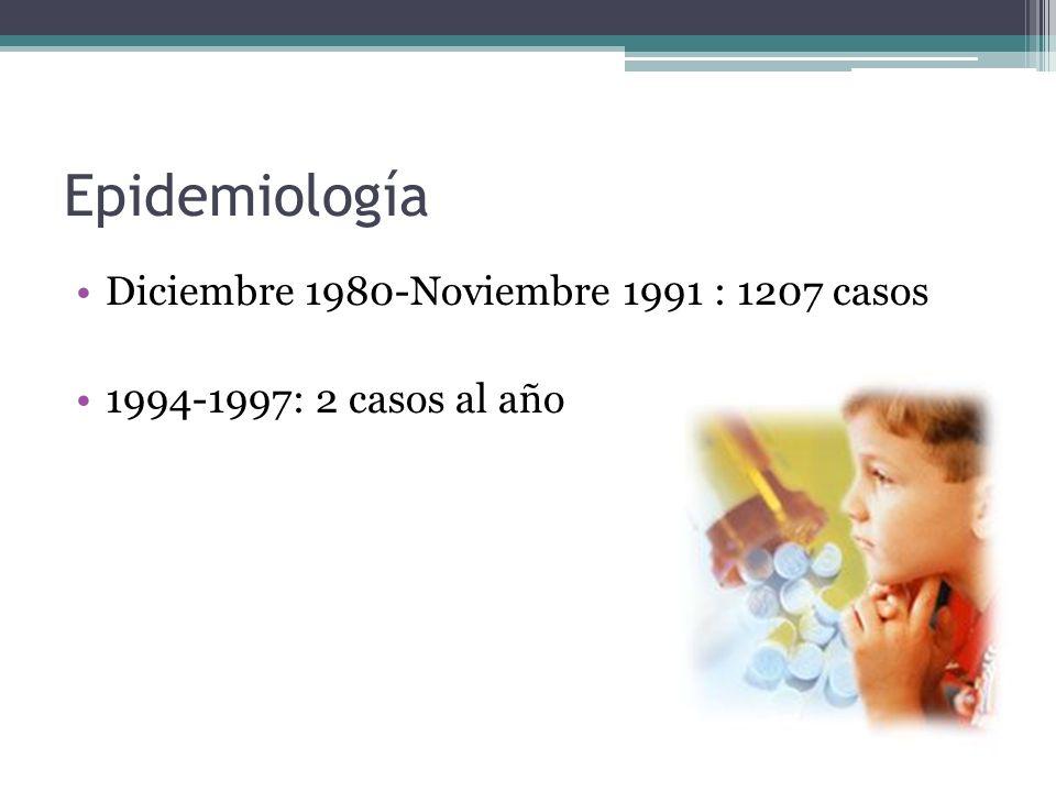 Epidemiología Diciembre 1980-Noviembre 1991 : 1207 casos