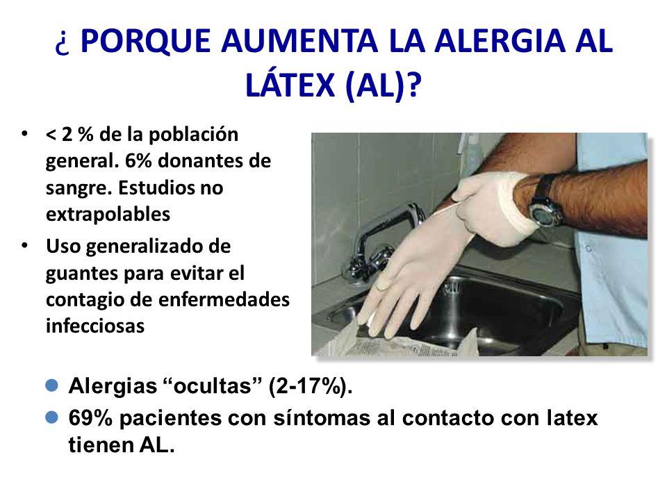 ¿ PORQUE AUMENTA LA ALERGIA AL LÁTEX (AL)