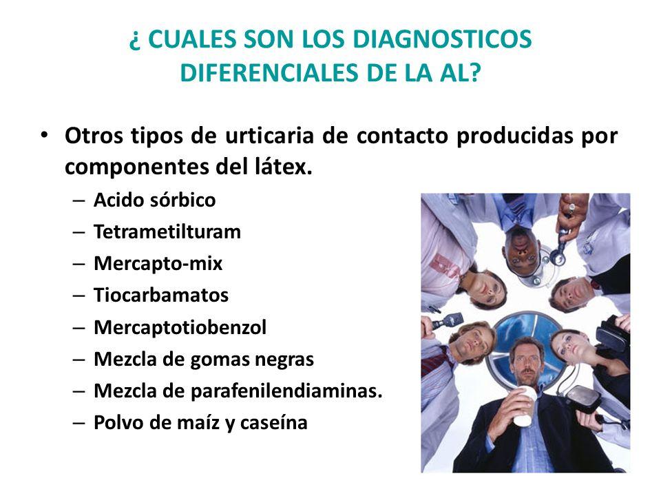 ¿ CUALES SON LOS DIAGNOSTICOS DIFERENCIALES DE LA AL