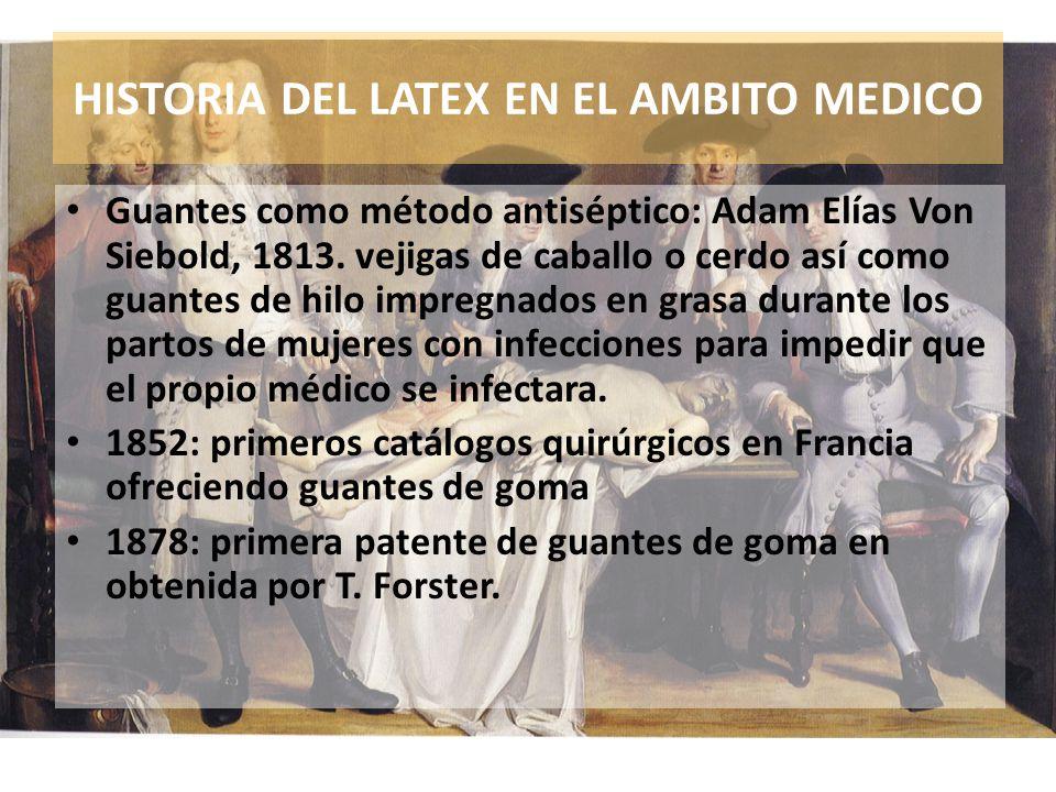 HISTORIA DEL LATEX EN EL AMBITO MEDICO