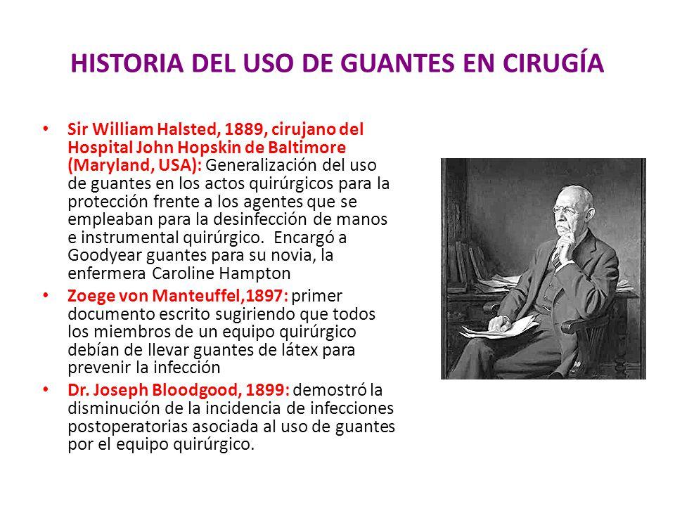 HISTORIA DEL USO DE GUANTES EN CIRUGÍA