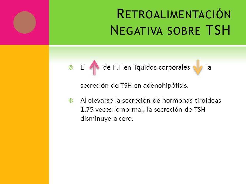 Retroalimentación Negativa sobre TSH