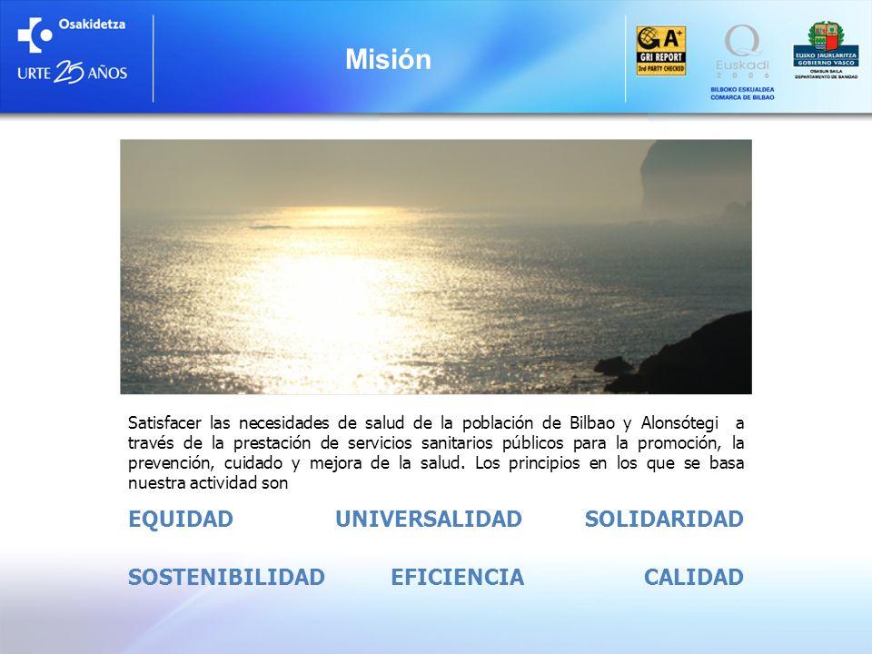 Misión EQUIDAD UNIVERSALIDAD SOLIDARIDAD SOSTENIBILIDAD EFICIENCIA