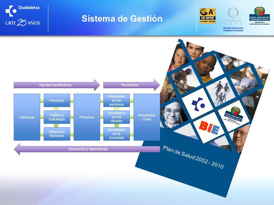 BiE Sistema de Gestión Plan de Salud 2002 - 2010 Liderazgo Procesos