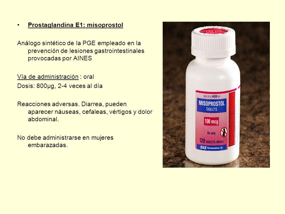 Prostaglandina E1: misoprostol