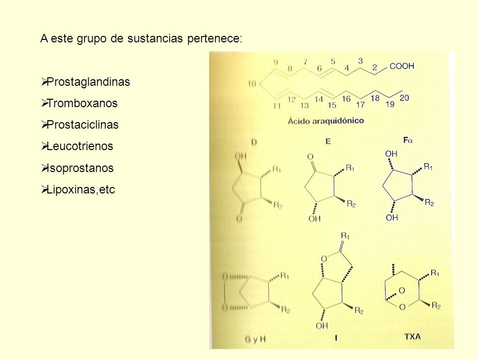 A este grupo de sustancias pertenece: