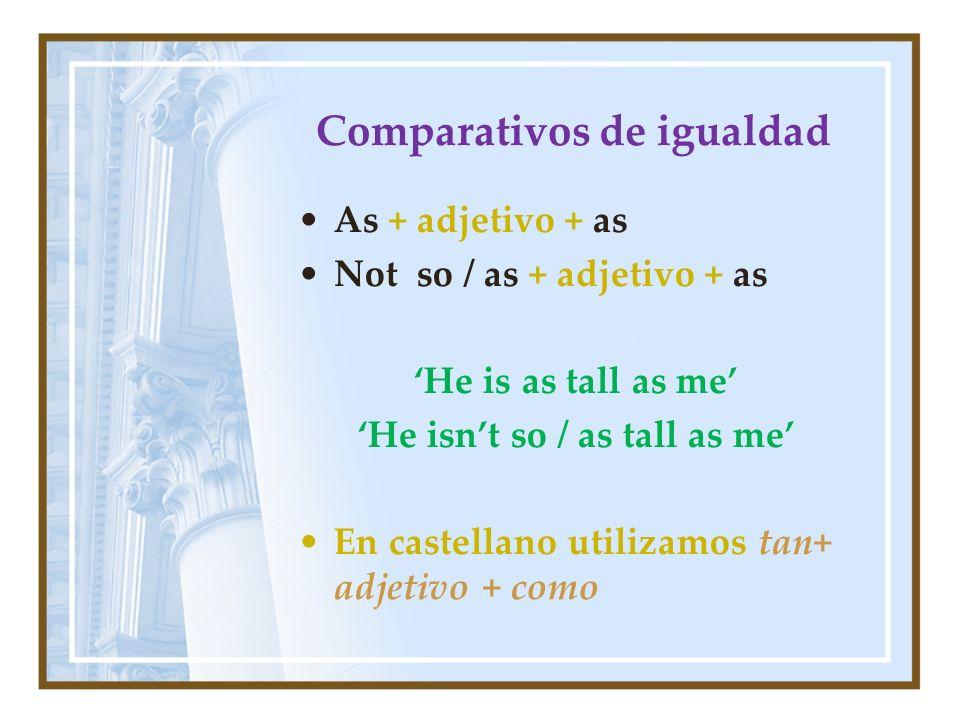 Comparativos de igualdad