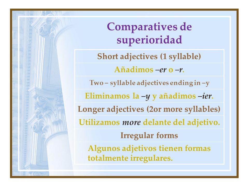 Comparatives de superioridad