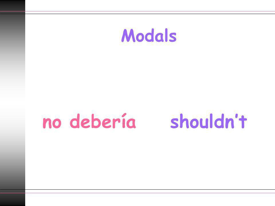 Modals no debería shouldn't