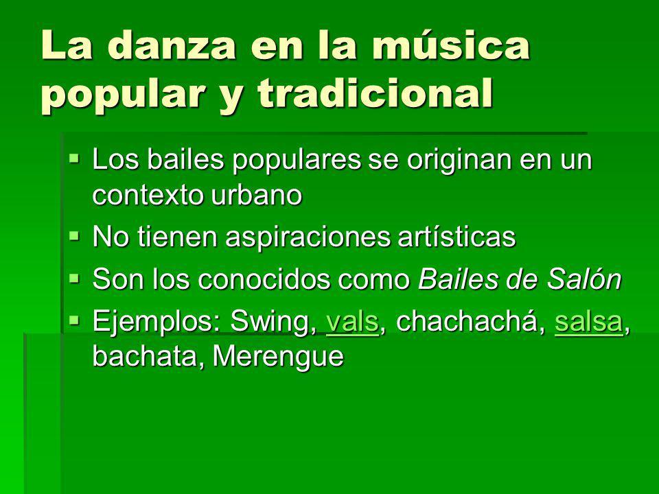 La danza en la música popular y tradicional