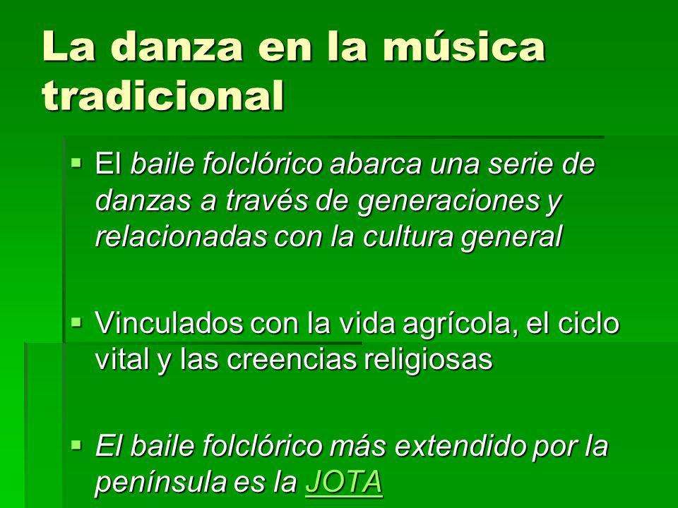 La danza en la música tradicional