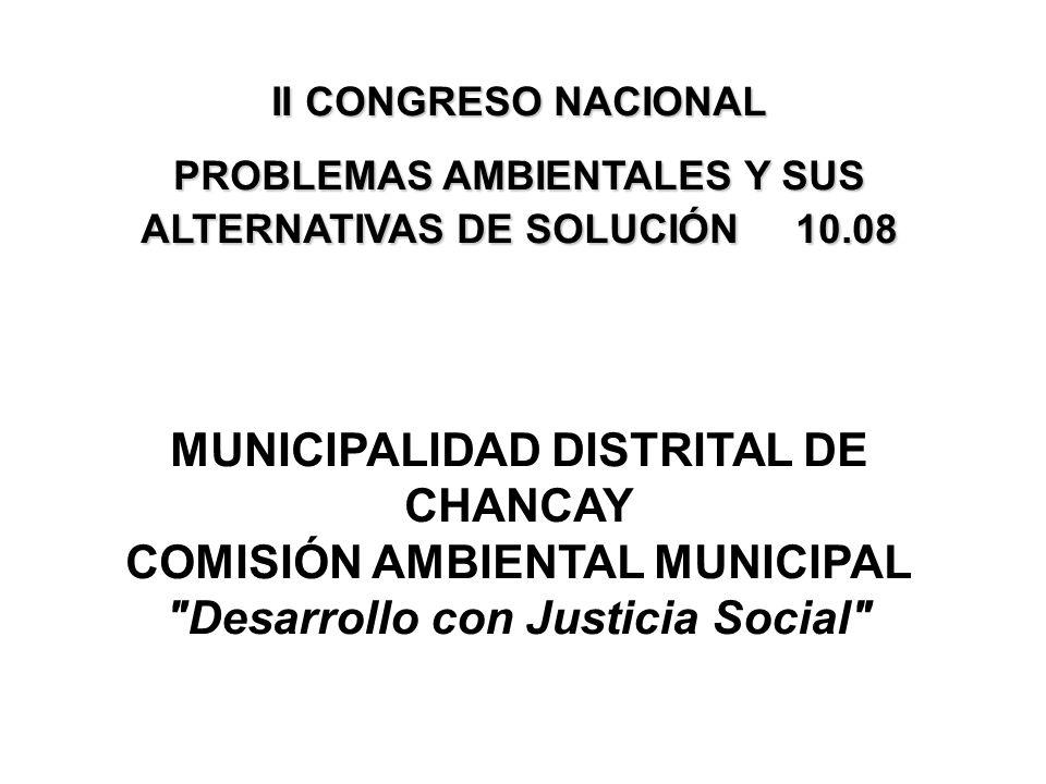 MUNICIPALIDAD DISTRITAL DE CHANCAY COMISIÓN AMBIENTAL MUNICIPAL