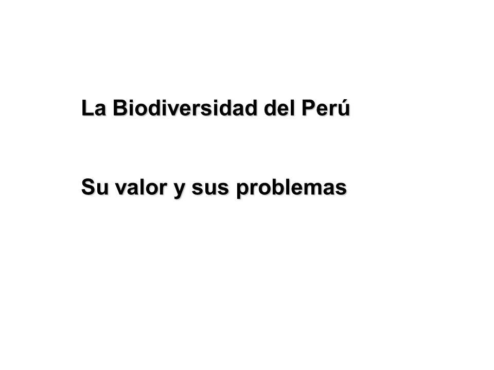 La Biodiversidad del Perú