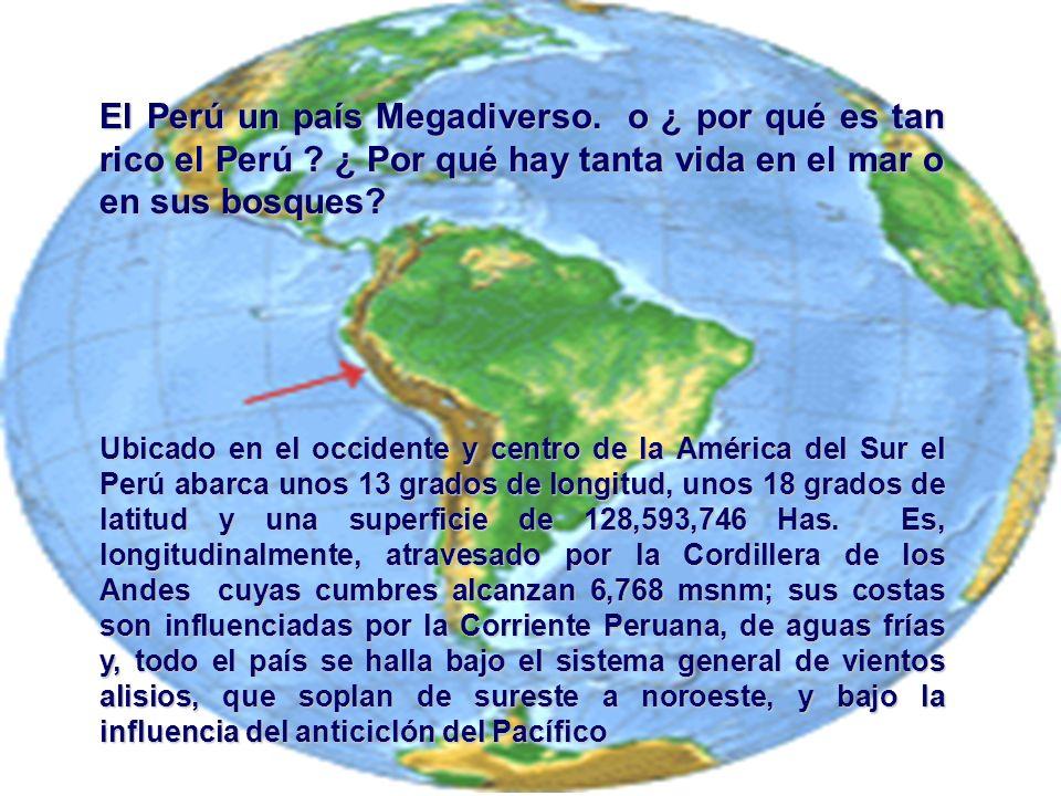 El Perú un país Megadiverso. o ¿ por qué es tan rico el Perú