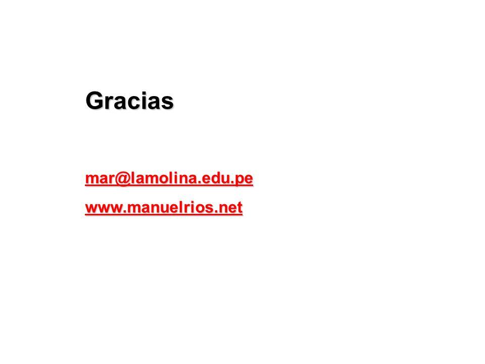 Gracias mar@lamolina.edu.pe www.manuelrios.net