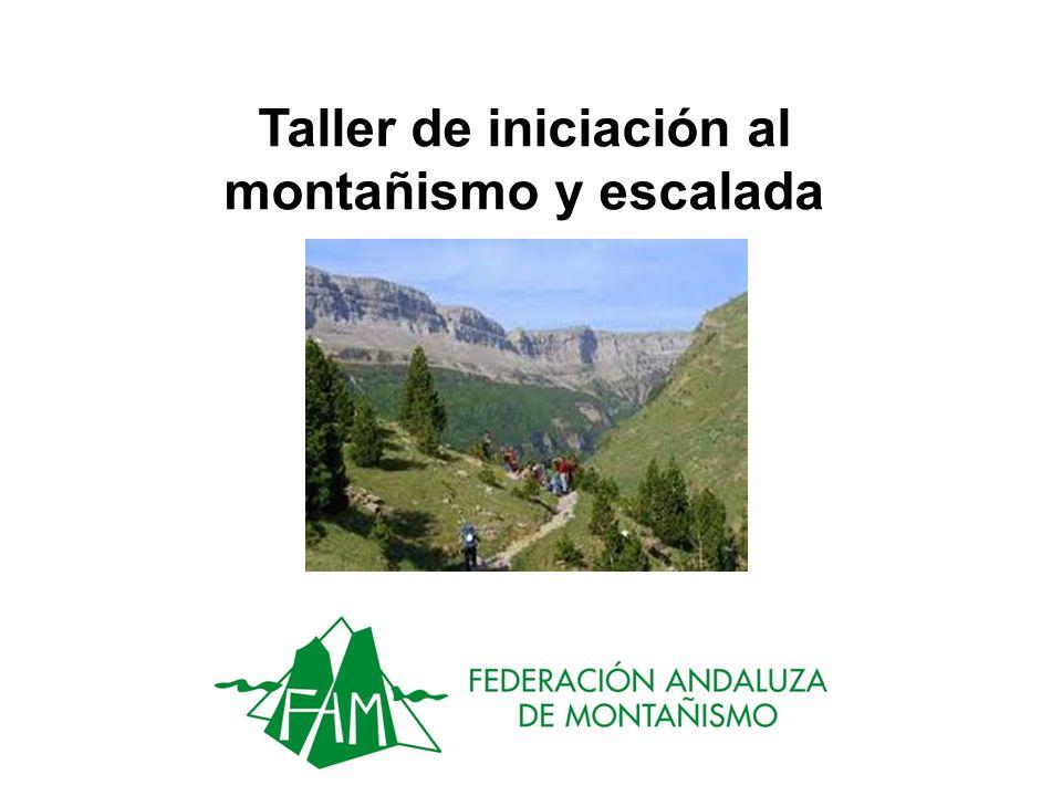 Taller de iniciación al montañismo y escalada
