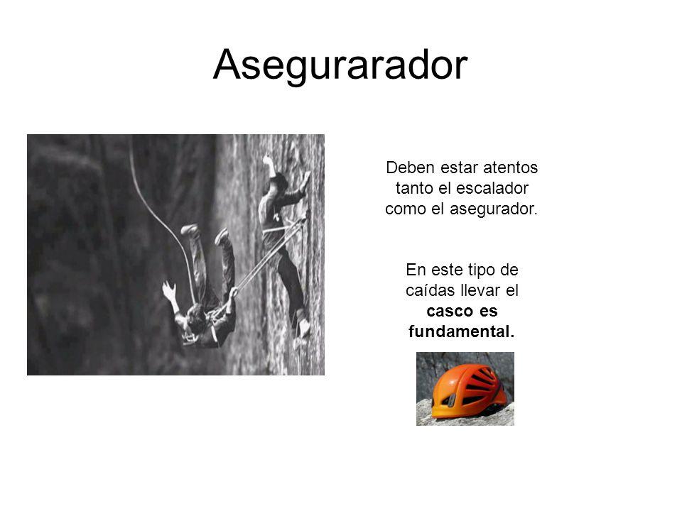 Asegurarador Deben estar atentos tanto el escalador como el asegurador.