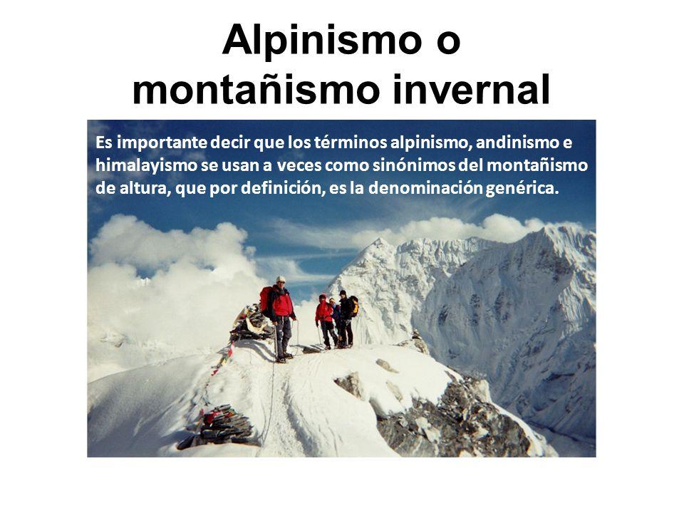 Alpinismo o montañismo invernal