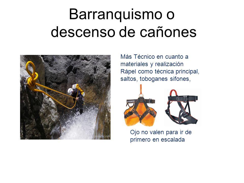 Barranquismo o descenso de cañones