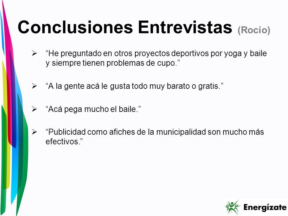 Conclusiones Entrevistas (Rocío)
